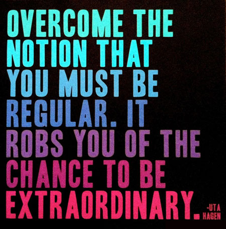Overcome The Notion That You Must Be Regular