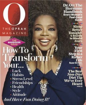 Oprah's real hair on O cover