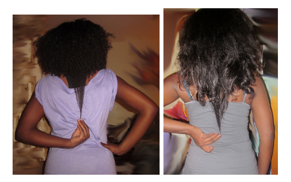 My Curly Mane_Length Check July & Oct 2012