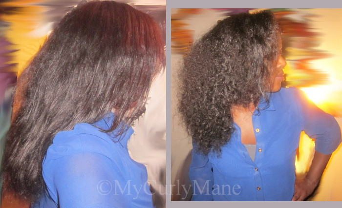 Straight and reverted natural hair