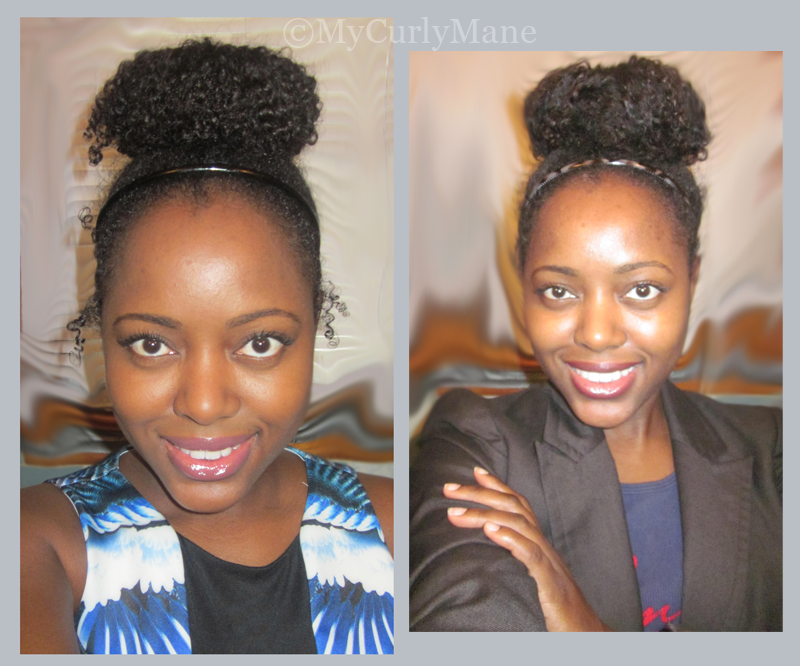 High Bun on Natural Hair