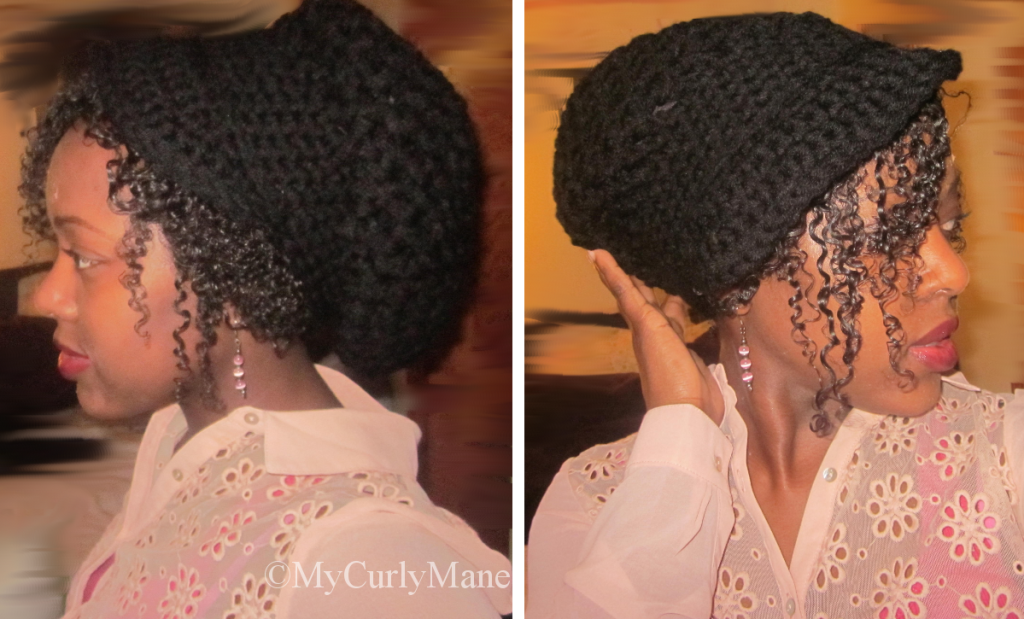 Satin Lined Hat for Natural Hair