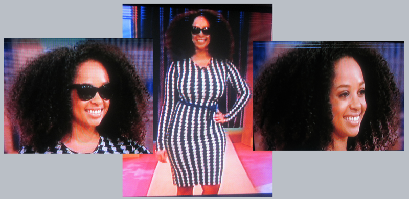 Wendy Williams Show Model with Natural Hair