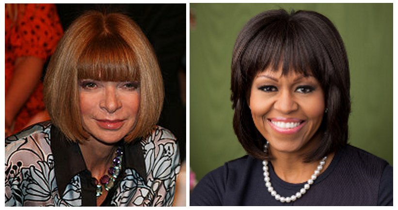Anna Wintour & Michelle Obama Bangs