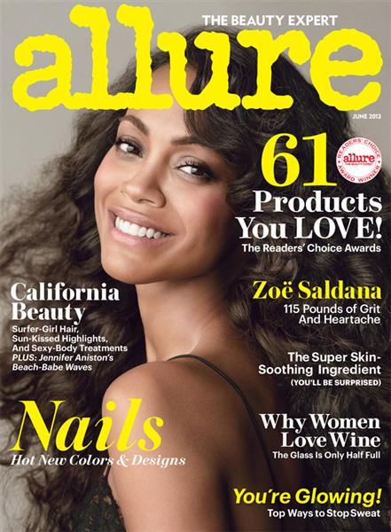Zoe Saldana Allure Cover June 2013