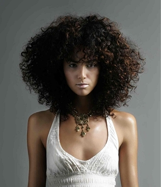 full Afro curls, natural hair