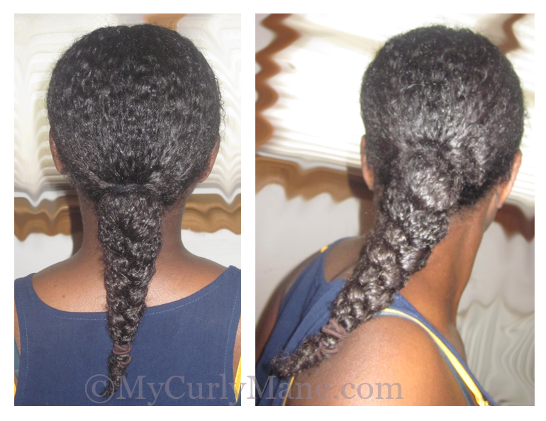 natural hair ponytail