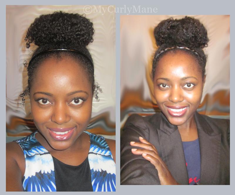 How to do high bun curly hair